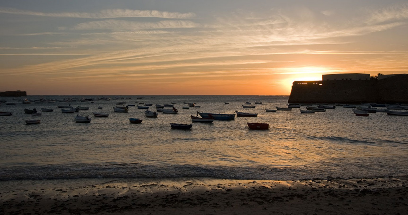 Fotografía de la Playa de la Caleta, Cádiz