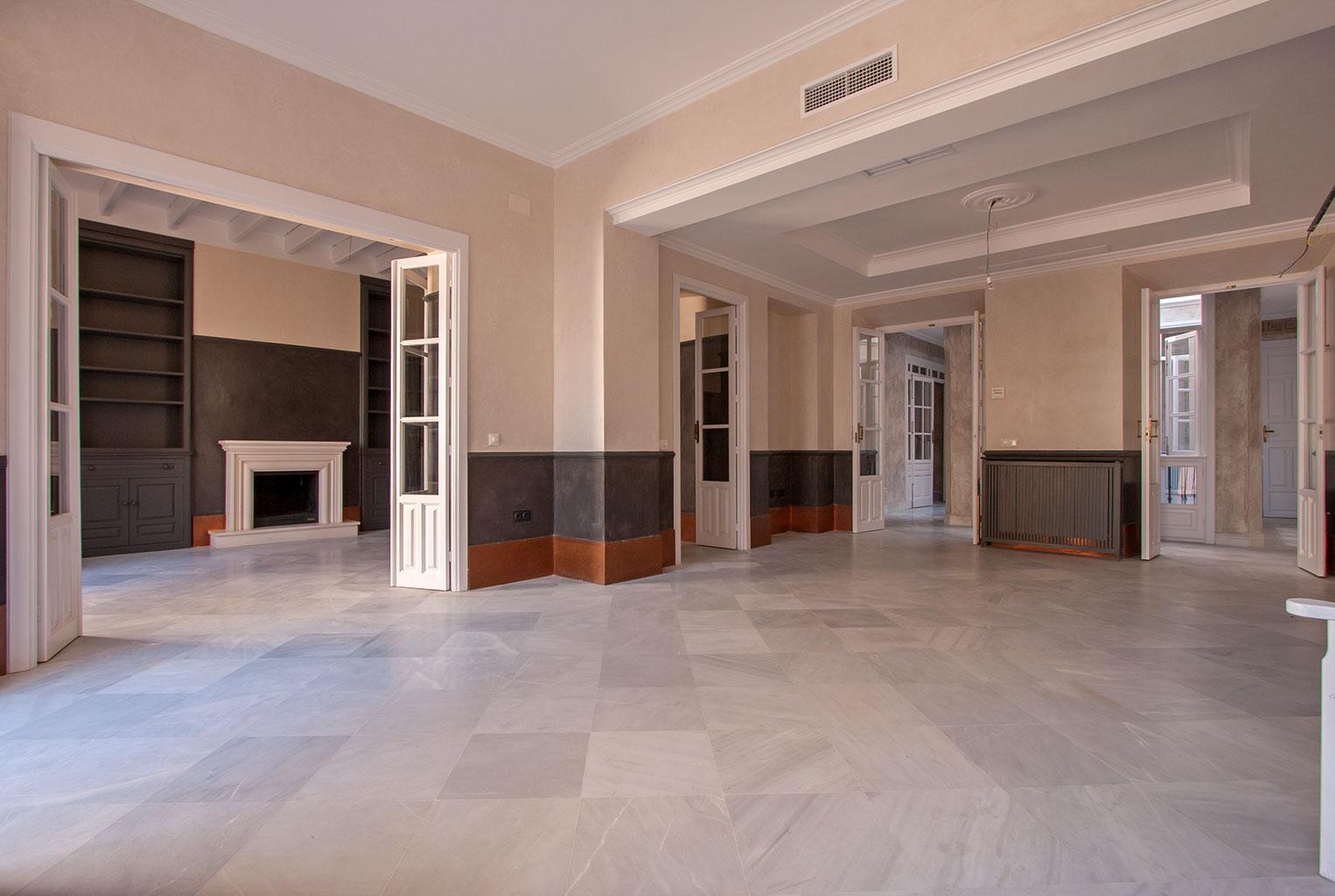 Vista angular del salón
